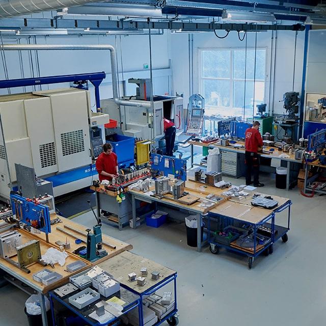 Rekordhurtig produktion af respiratorkomponenter